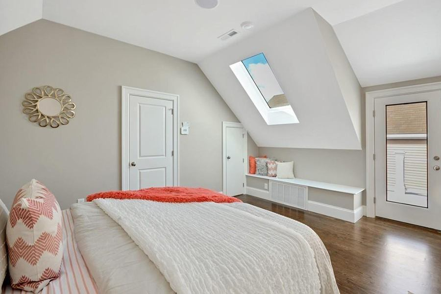 condo bedroom skylight