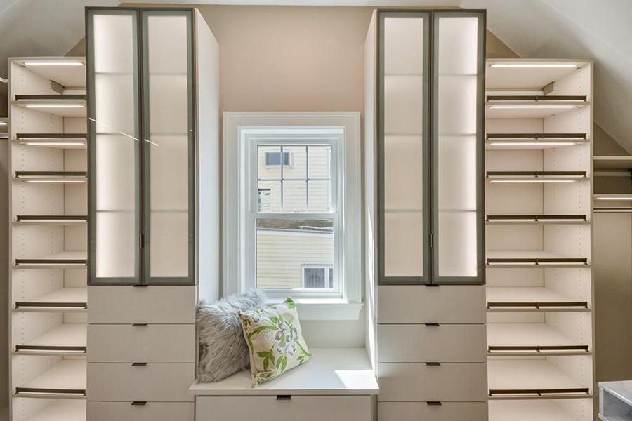 condo walk-in closet