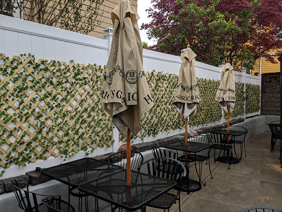 Avenue Kitchen + Bar has a secluded patio in Somerville's Ball Square