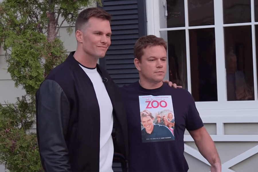 Matt Damon Tom Brady
