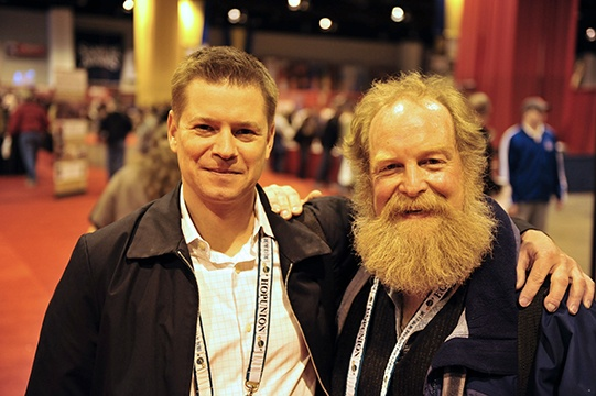 Will Meyers and his mentor, brewer Tod Mott, at the Great American Beer Festival in 2008