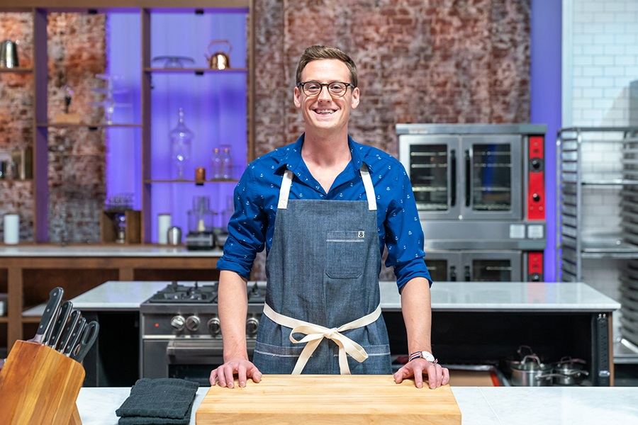 Cambridge pastry chef and contestant Joshua Livsey, as seen on Best Baker in America, Season 3