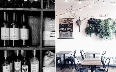 Curio Coffee in Cambridge made room on its shelves for add natural wines.