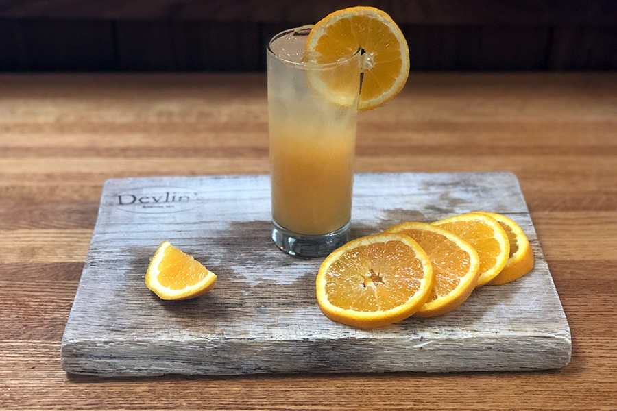 Renowned bartender Martin Cate's Harvey Wallbanger is on the new cocktail menu at Devlin's