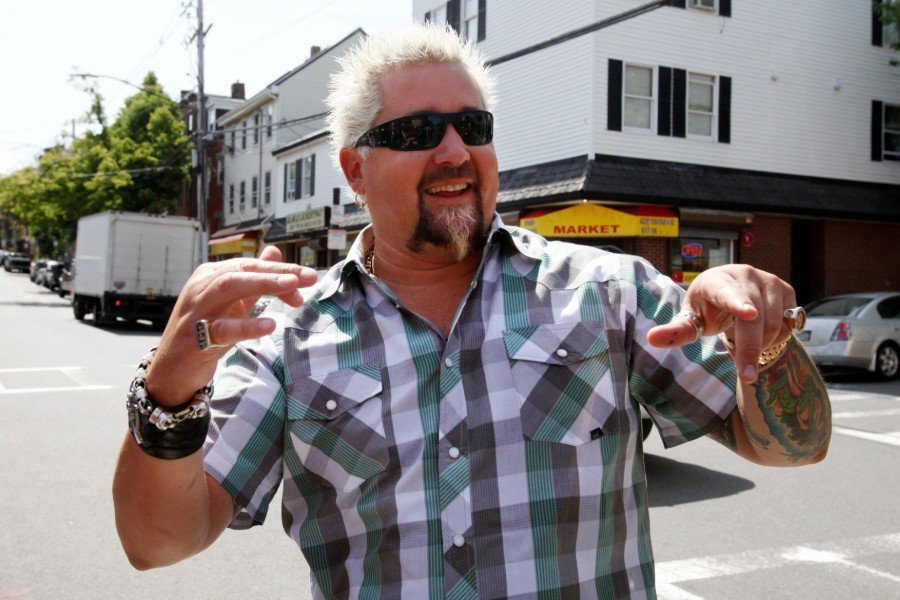 Guy Fieri in East Boston / AP photo