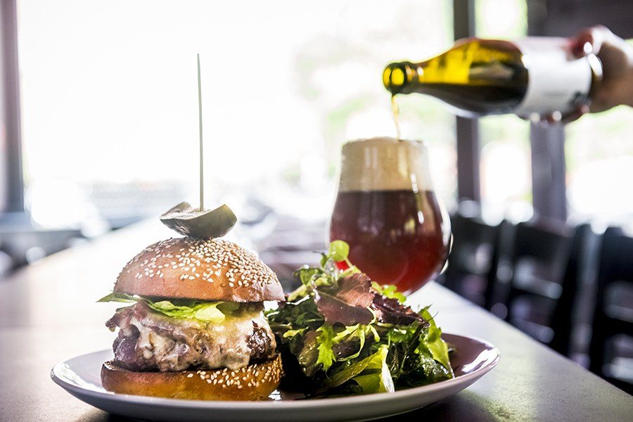 Burgers and beer pairings at the Butcher Shop