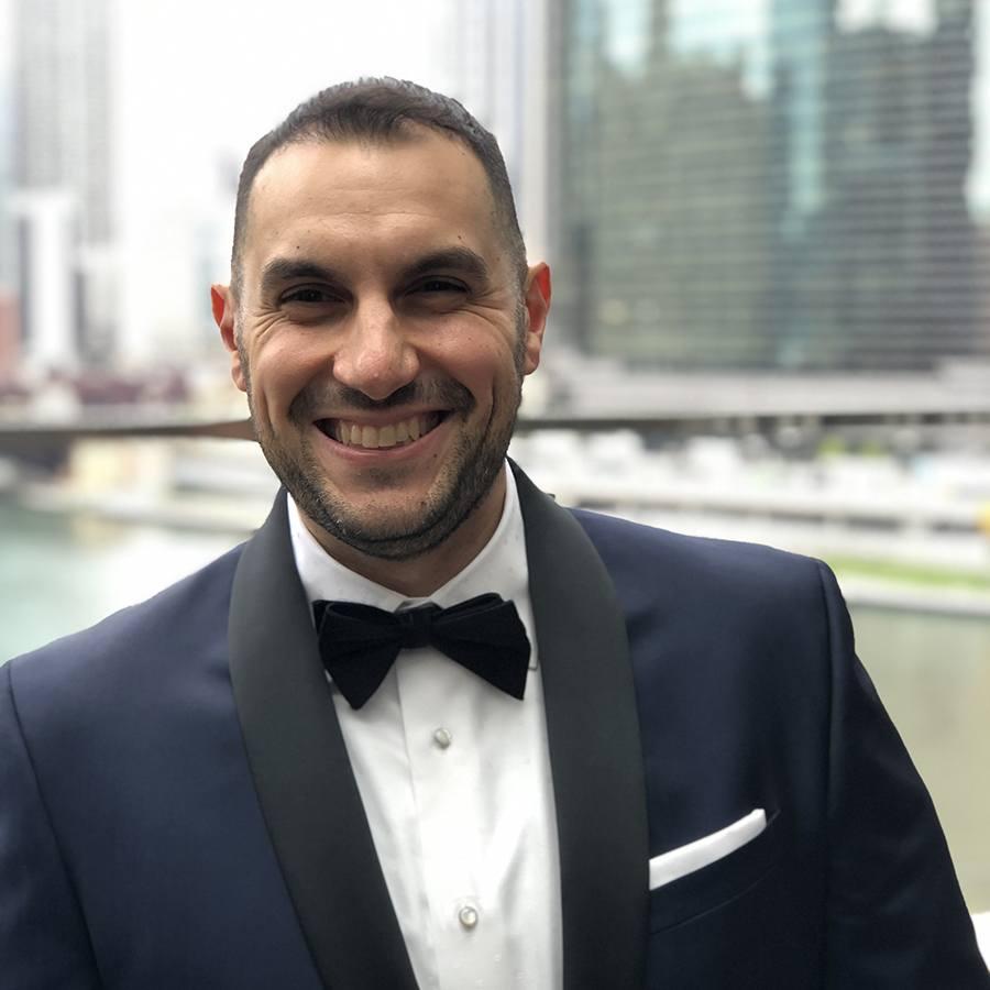 Uni chef Tony Messina on his way to the James Beard Awards ceremony in Chicago.