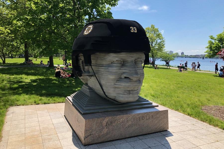 fiedler bruins helmet