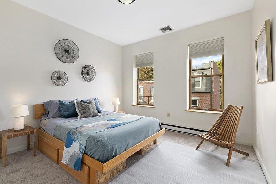 roxbury brownstone bedroom