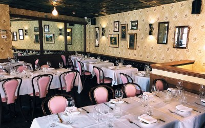 The upstairs dining room at Ciao Bella in the North End