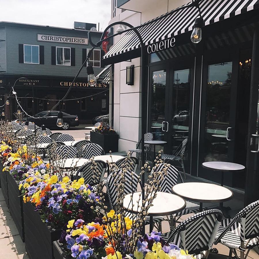 Colette Wine Bistro patio in Porter Square