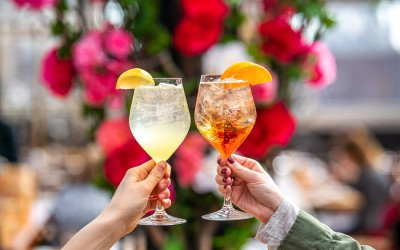 spritz drinks cheers at Eataly Boston