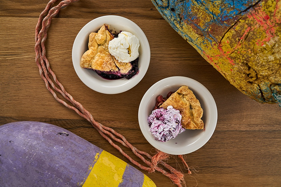 Two Fat Cats Bakery pie served a la mode with the Parlor Ice Cream Co. at Luke's Lobster Portland Pier