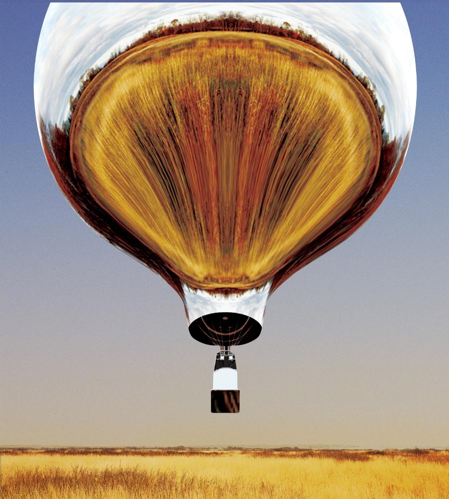reflective hot air balloon