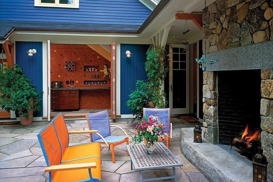 newton outdoor fireplace