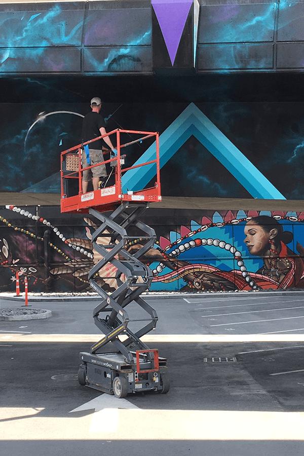 mural of woman