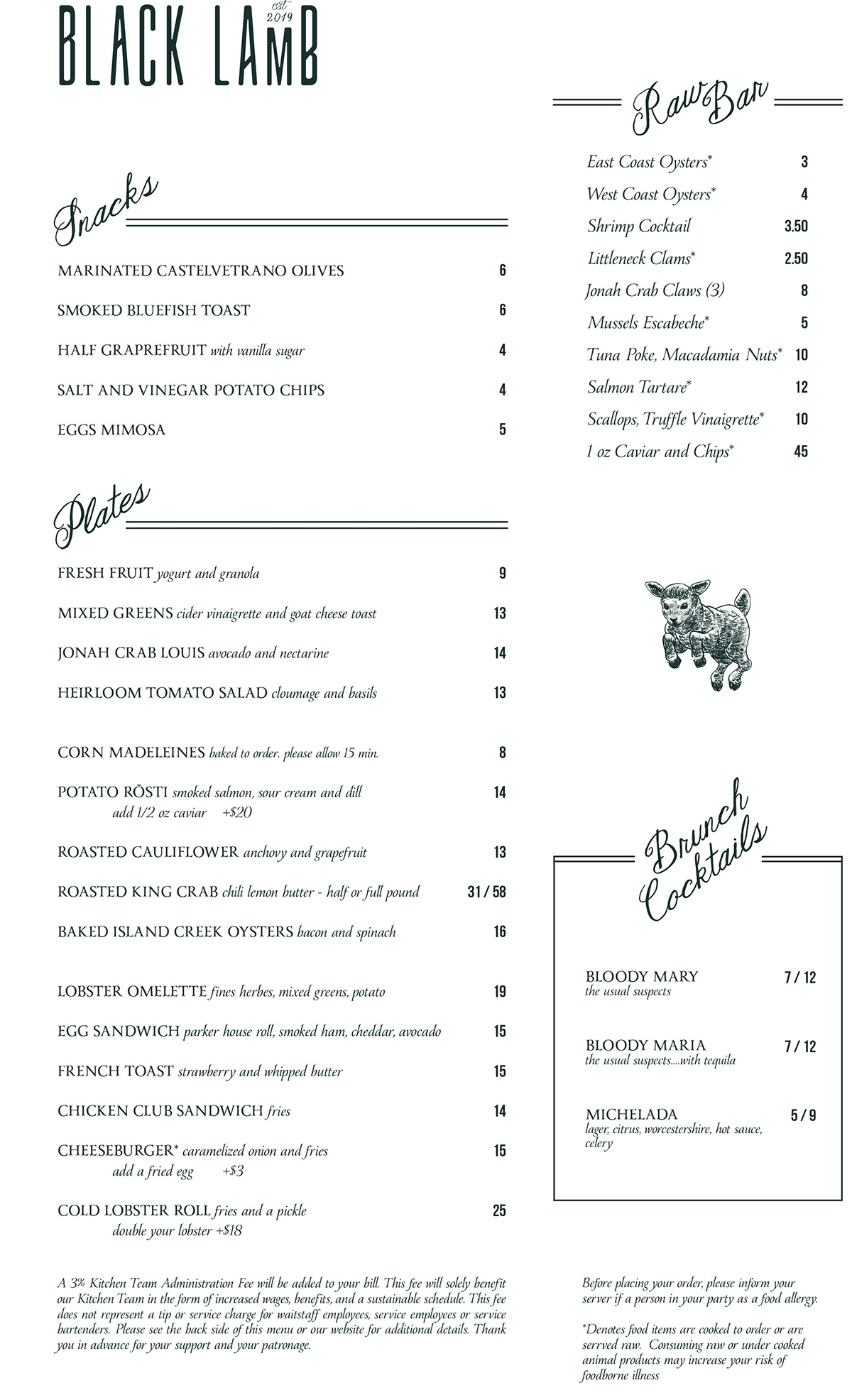 Check Out the New Weekend Brunch Menu at Black Lamb in Boston