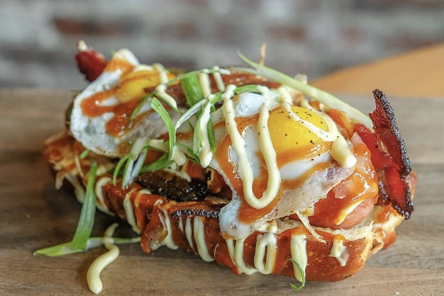 Lincoln Tavern's okonomiyaki dog was a particular decadent Wiener Wednesday special