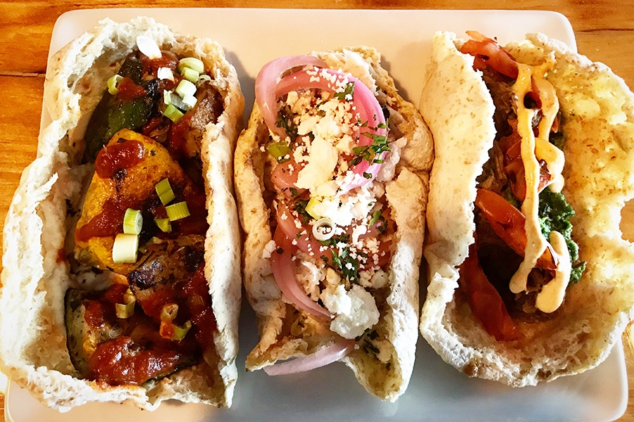 Tacos Arabes at Simcha bring Mexican-inspired Lebanese flavors to Sharon.