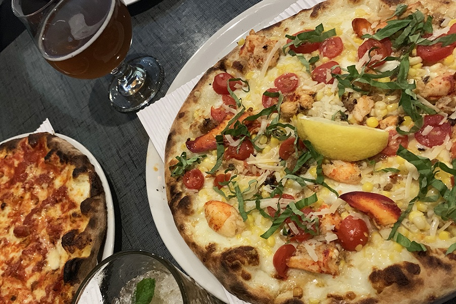 Stoked's lobster-and-corn pizza is a must-eat summertime special