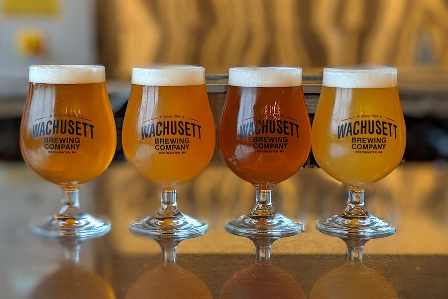 Wachusett Brewing Co pints