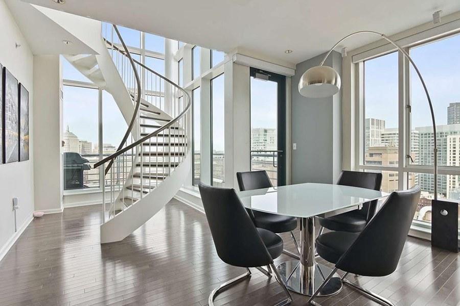 Downtown Boston penthouse duplex