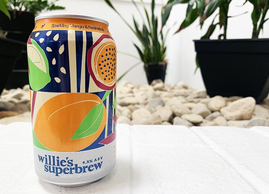 hard seltzer willie's mango passionfruit