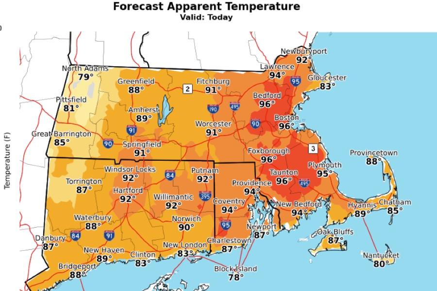 hottest july bosotn