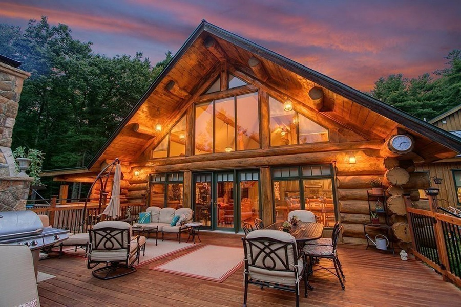 Awe Inspiring On The Market A Lofty Log Cabin In Central Mass Best Image Libraries Barepthycampuscom