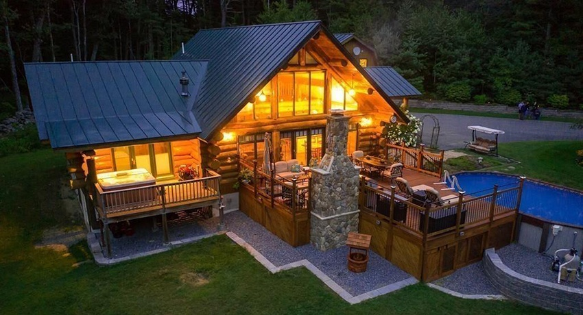Superb On The Market A Lofty Log Cabin In Central Mass Best Image Libraries Barepthycampuscom