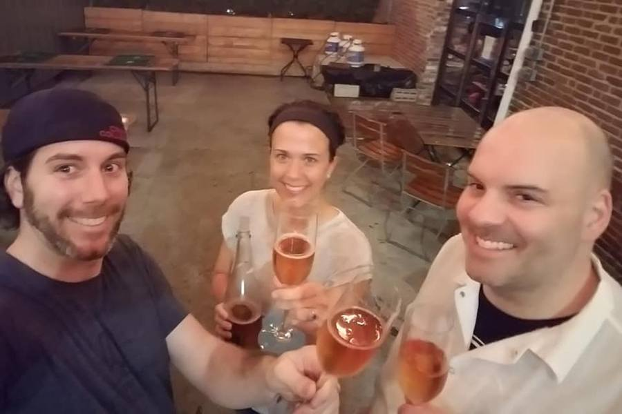 Brewer's Fork owners Michael and Kari Cooney and John Paine