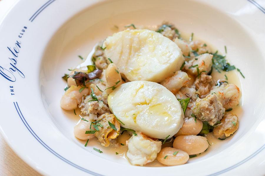 The Oyster Club's cod and clams