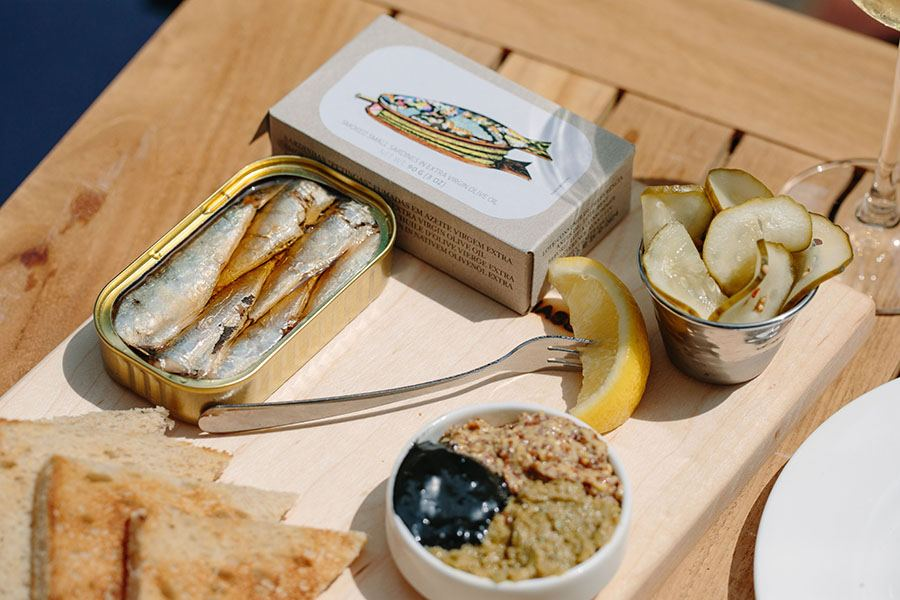 The Oyster Club Boston tinned seafood