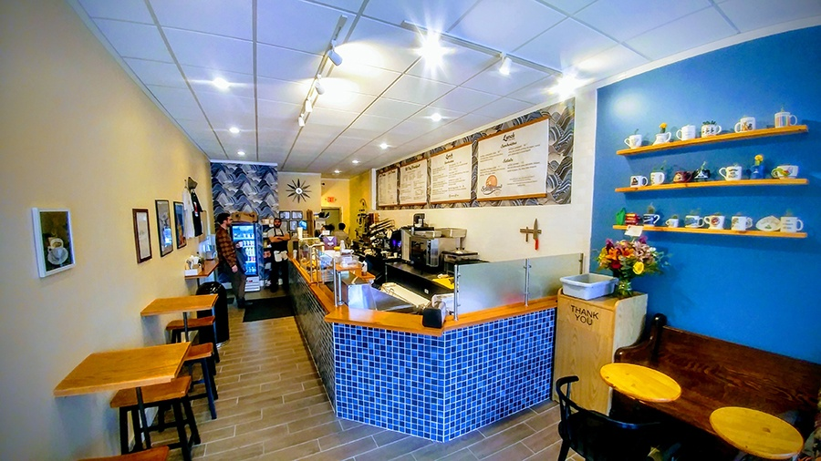 Bright and cheerful Solid Ground Cafe in Mission Hill