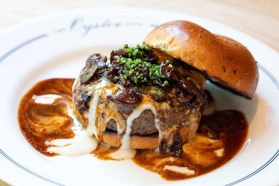 The Oyster Club burger