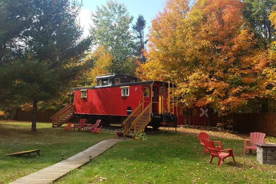 train caboose Airbnb