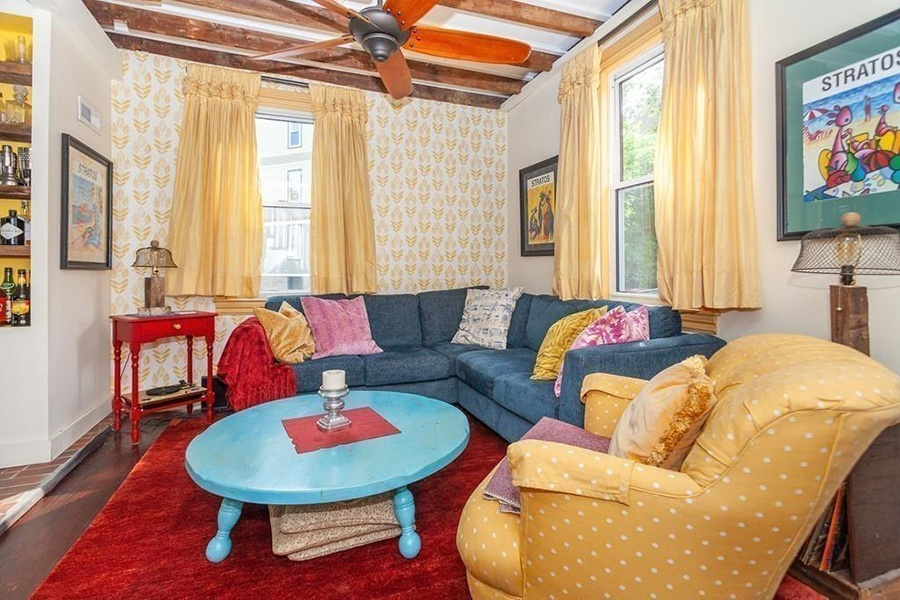 Jamaica Plain colorful single-family home