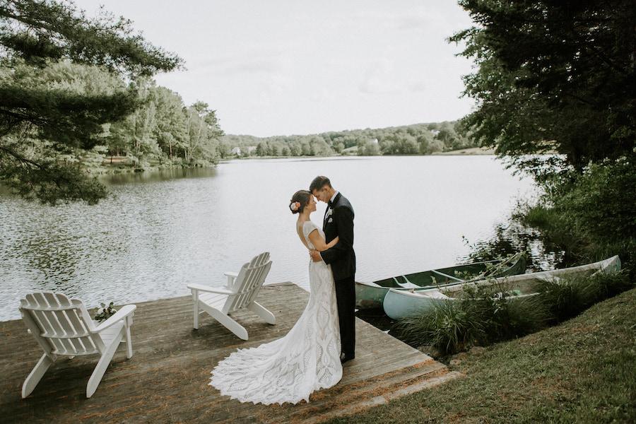 diy connecticut backyard wedding