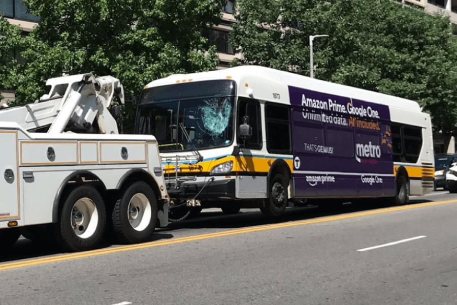 mbta bus goose windshield