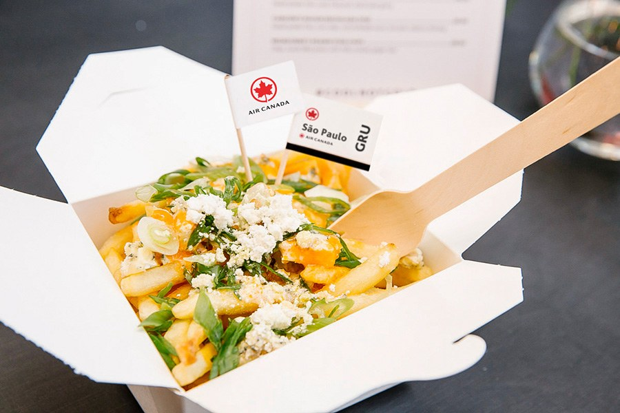 """São Paulo-inspired """"poutine"""" topped with grilled hanger steak and chimichurri is on the menu at Air Canada's upcoming pop-up poutinerie"""