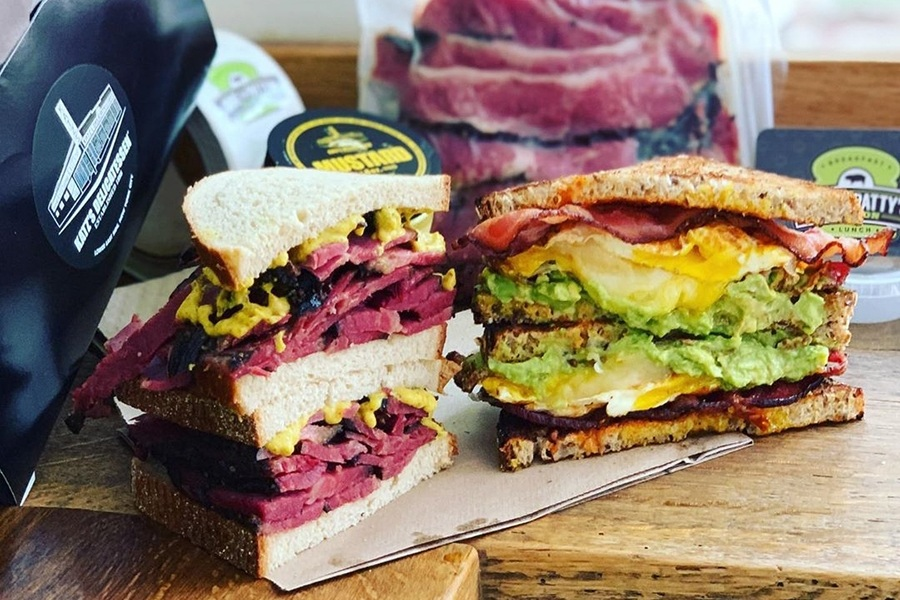 """Katz's pastrami and Mike & Patty's """"the Fancy"""""""