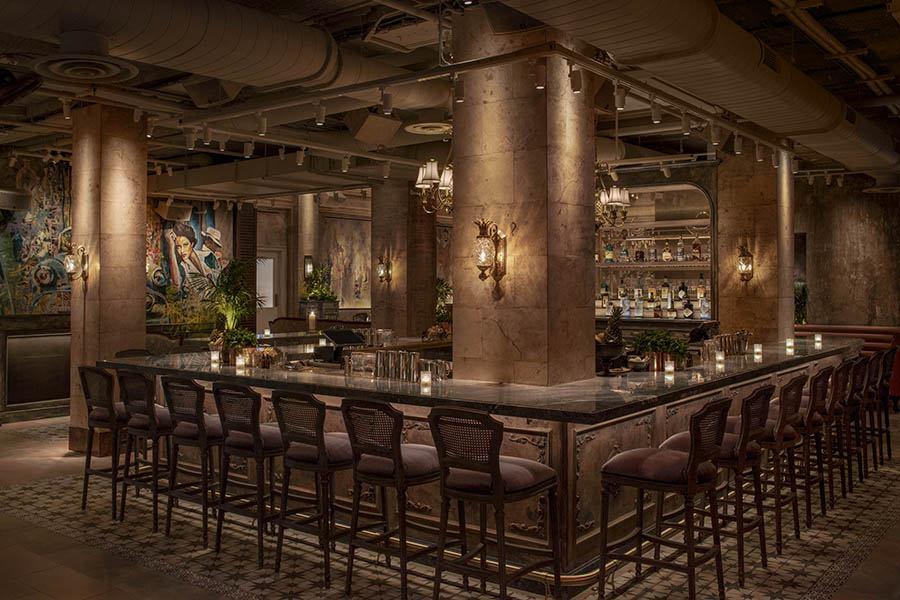 The main bar at Mariel