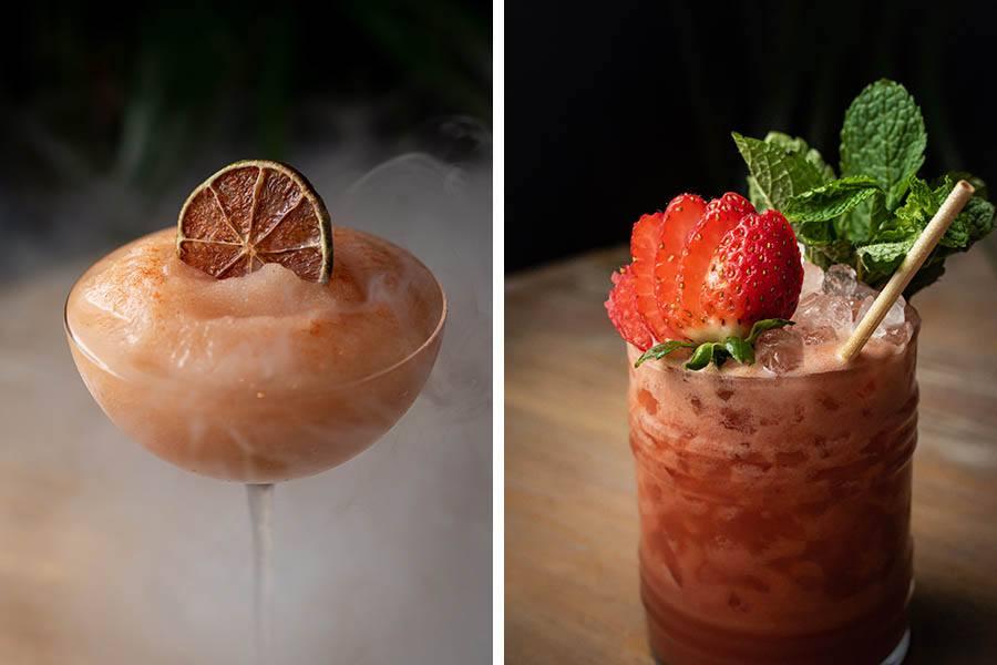 Mariel cocktails: Trogon, and Santiago Mojito