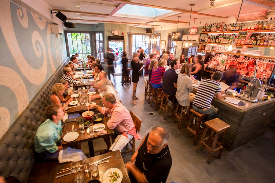 The Nautilus Nantucket busy dining room