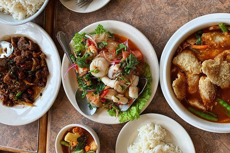 A selection of Thai dishes at S & I to Go