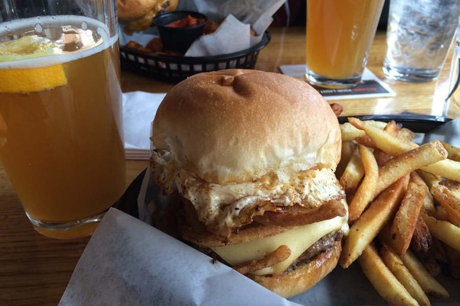 Burgers and beers at the Avenue