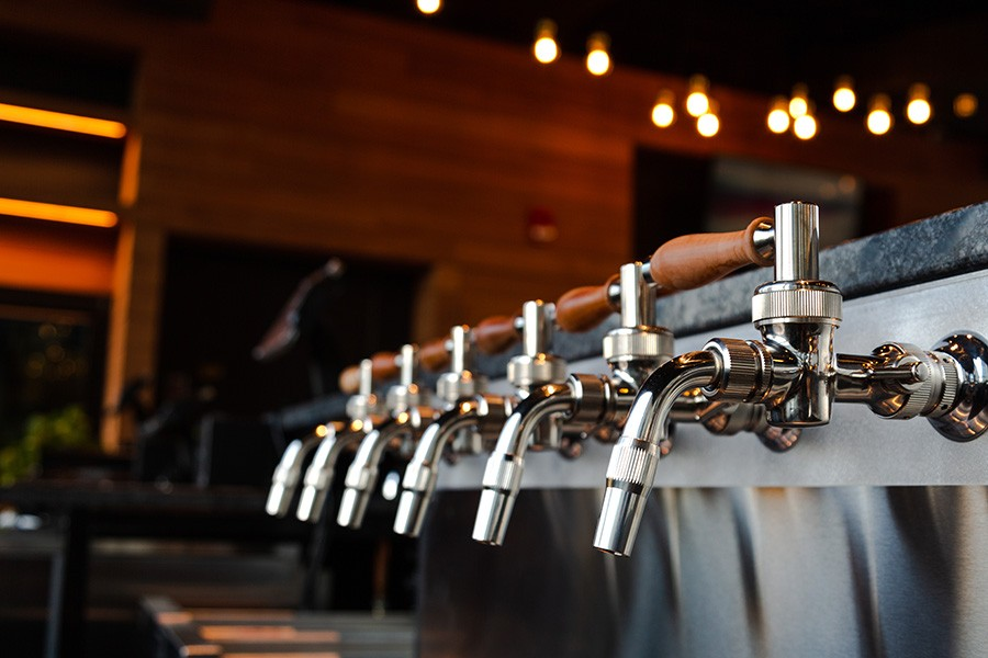 Trillium Fenway side-pull faucets