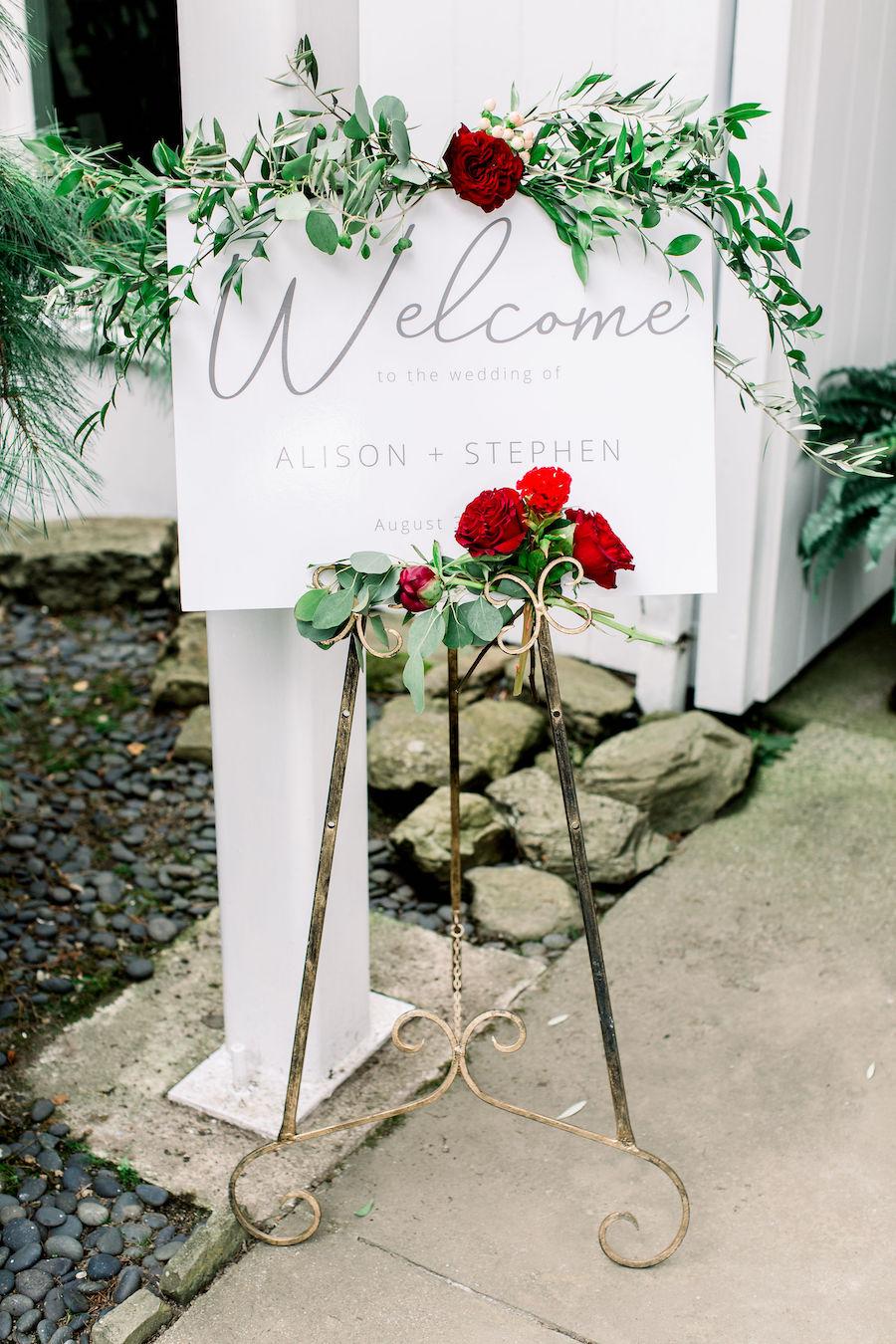 backyard tented wedding
