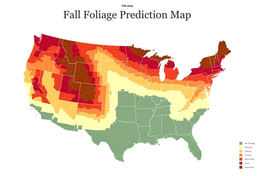 fall foliage prediction map 2019