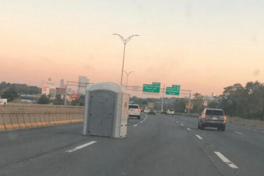 portable toilet highway